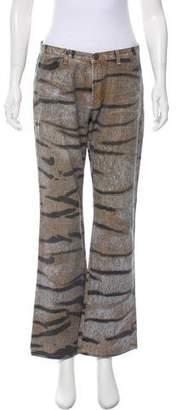 Just Cavalli Animal Print Mid-Rise Jeans