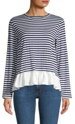 Clu Asymmetric Striped Top