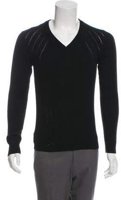 Christian Dior Camelhair V-Neck Sweater