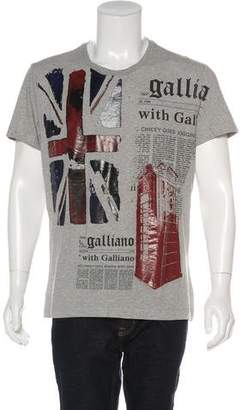 Galliano Graphic Short Sleeve T-Shirt w/ Tags