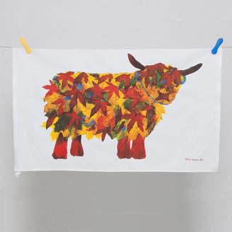 Chloé Gardner Leaf Highland Cow Tea Towel