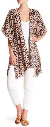 Do Everything in Love Leopard Print Kimono