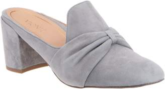 Vionic Suede Knotted Heeled Mules - Presley