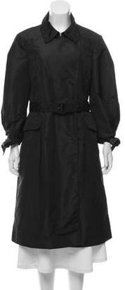 Prada Silk Blend Long Coat