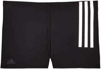 adidas Boys 3 Stripe Trunk - Black