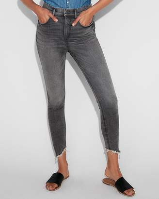 Express Super High Waisted Denim Perfect Stretch+ Ankle Leggings