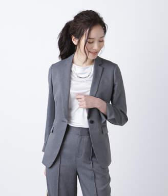 NEWYORKER women's 【新作】【手洗い可能】シャンブレーストレッチ デザインテーラードジャケット