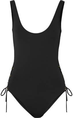 32aacf5b5ce9 Melissa Odabash Venice Lace-up Swimsuit - Black