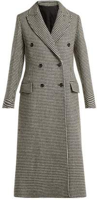 Joseph New Arlon Houndstooth Wool Blend Coat - Womens - Black White