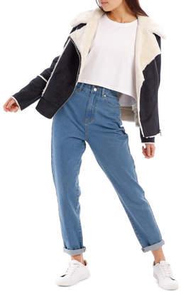 Miss Shop Faux Suede Jacket