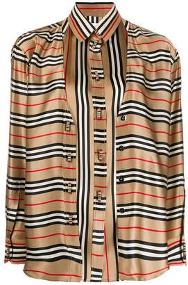 Burberry double-layer striped shirt