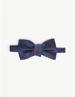 Alexander McQueen Skull and polka dot silk bow tie