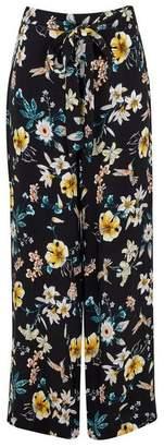 Wallis Black Printed Wide Leg Trouser