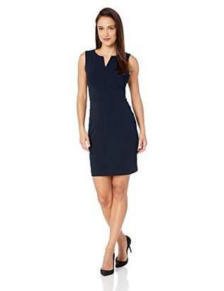 Calvin Klein Women's Petite Sleeveless Seamed Sheath Dress