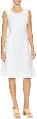Lafayette 148 New York Women's Shawn Cotton Perforated A Line Dress