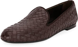 Bottega Veneta Woven Leather Smoking Slipper