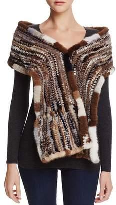Maximilian Furs Knit Mink Fur Stole