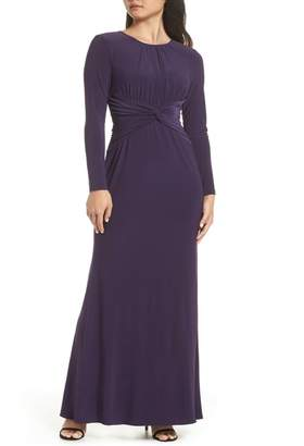 Adrianna Papell Twist Waist Knit Dress