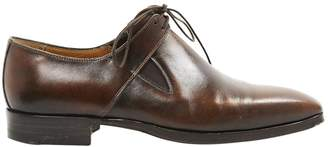 Non Signé / Unsigned Non Signe / Unsigned Brown Leather Lace ups