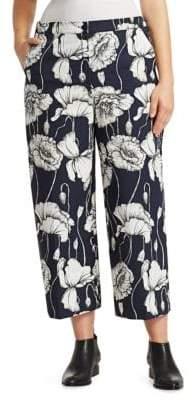 Marina Rinaldi Marina Rinaldi, Plus Size Recale Cropped Floral Pants
