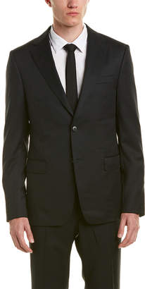 Ermenegildo Zegna Wool Suit With Flat Front Pant