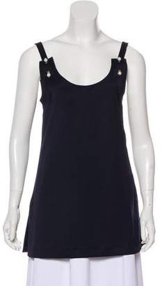 Mother of Pearl Embellished Sleeveless Top