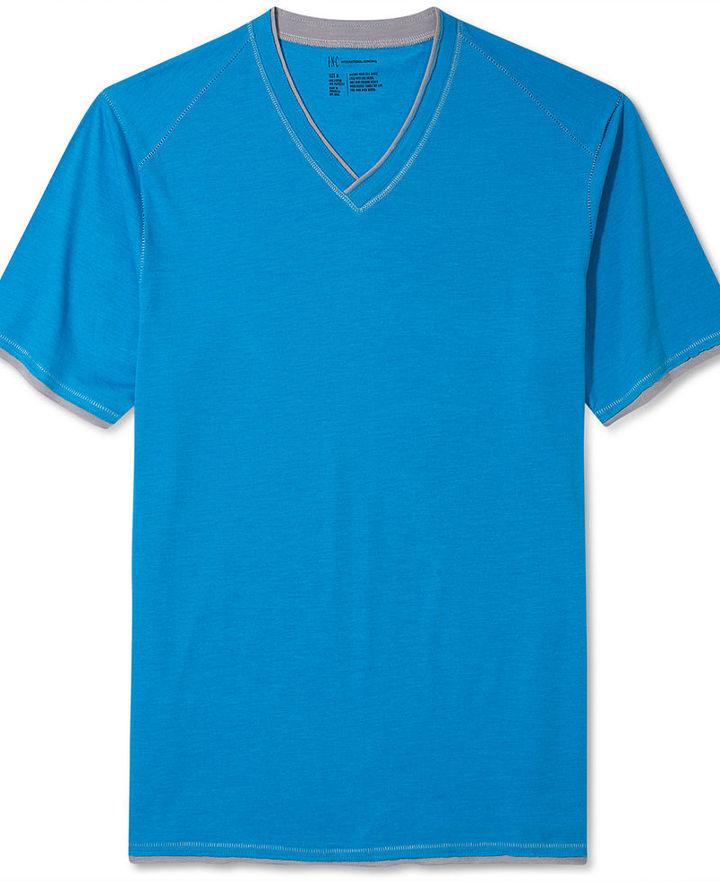 INC International Concepts Shirt, Cabo V-Neck Tee