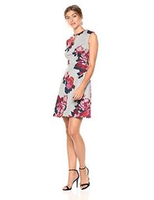 Tommy Hilfiger Women's Floral Ponte Key Hole Dress