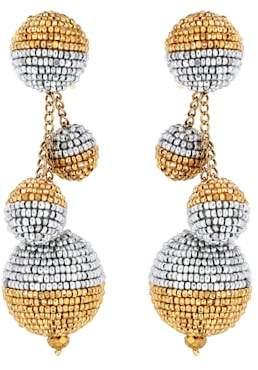 Oscar de la Renta Beaded ball drop earrings