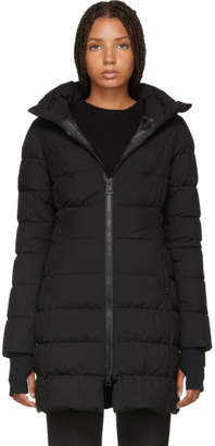 Herno Black Fitted Puffer Coat