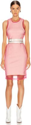 Helmut Lang Masc Tank Dress in Prism Pink | FWRD
