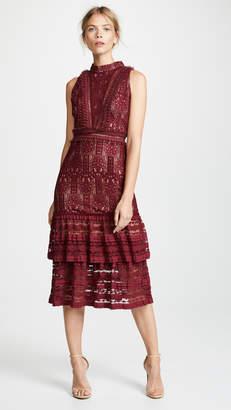 Endless Rose Lace Mock Neck Midi Dress