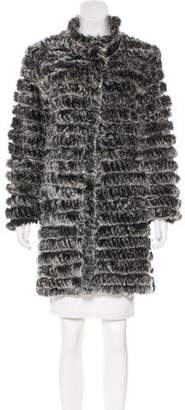 Neiman Marcus Knit Fur Coat