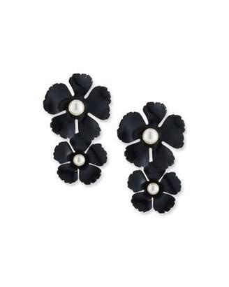 Jennifer Behr Coco Pearly Flower Drop Earrings
