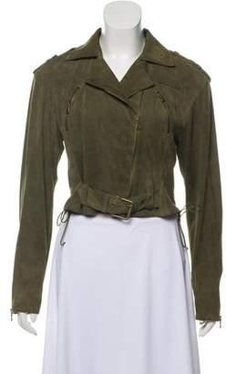 Ralph Lauren Cropped Suede Jacket