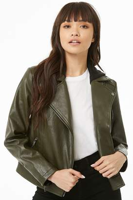 Forever 21 Faux Leather Combo Jacket