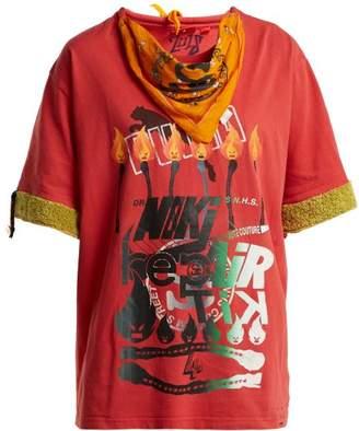 Couture Noki - Customised Street Bandana T Shirt - Womens - Red Multi