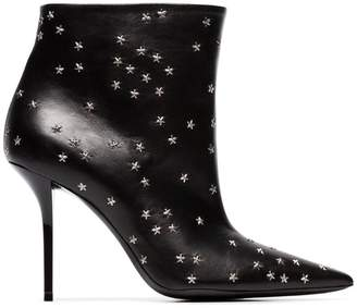 Saint Laurent pierre star embellished 95 leather boots
