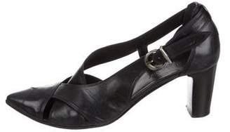 Gianni Barbato Leather Pointed-Toe Pumps