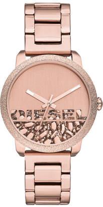 Diesel Women Flare Rocks Rose Gold-Tone Stainless Steel Bracelet Watch 38mm