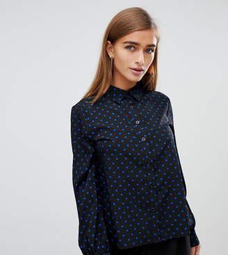 Fashion Union Petite polka dot shirt
