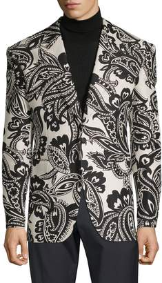 Alexander McQueen Paisley-Print Cotton & Silk-Blend Sportcoat
