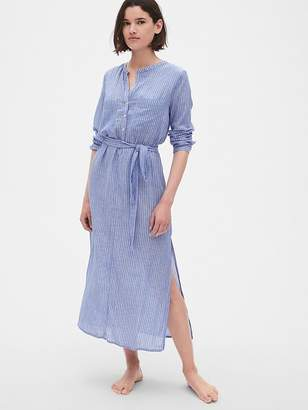 Gap Dreamwell Crinkle Stripe Maxi Shirtdress