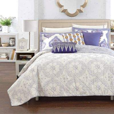 Chic Home Crosby Palace Full/Queen Quilt in Beige