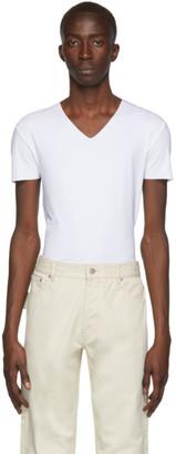 Ermenegildo Zegna White Seamless V-Neck T-Shirt