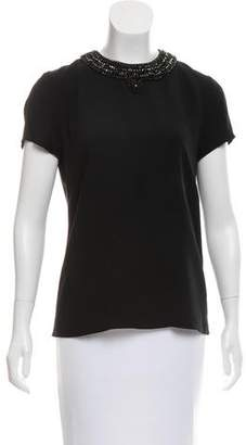 Ralph Lauren Embellished Short Sleeve Top