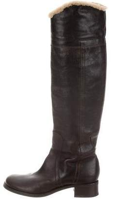 CNC Costume National Shearling-Trimmed Knee-High Boots