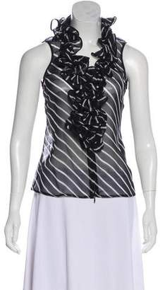 Anne Fontaine Ruffle-Accented Silk Tank Top