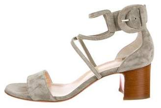 Christian Louboutin Suede Multistrap Sandals
