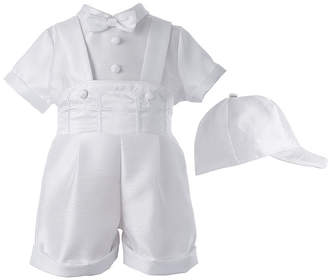Keepsake Christening 3-pc. Shirt, Shorts and Cap Set - Boys newborn-12m